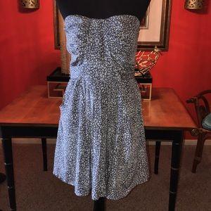 CHARLIE JADE SILK STRAPLESS FEONT POCKET DRESS